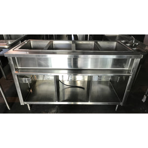 "Atlas Metal - Used (4) 12"" well Steam Table- Electric - WIHDM4 - Maltese & Co New and Used  restaurant Equipment"
