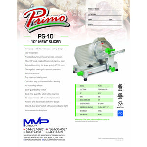Primo - PS-10 - Slicer - Brand New - Maltese & Co New and Used  restaurant Equipment
