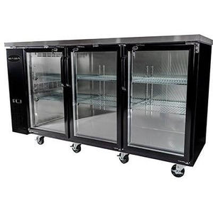 "Saba Air - 72-7 , 8"" (3) Three Door Back Bar Glass Cooler-SB-STBB2472G-8117-N"