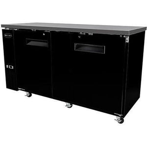 "Saba Air - 69-1 , 8"" (2) Two Door Solid Back Bar Cooler-SB-STBB2769B-8217-N - Maltese & Co New and Used  restaurant Equipment"