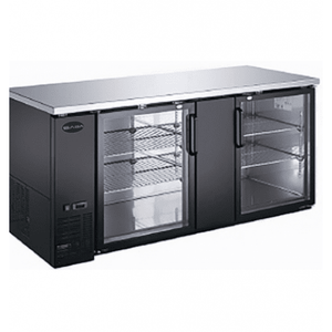 "Saba Air - 69-1 , 8"" (2) Two Glass Door Back Bar Cooler-SB-STBB2769G-8217-N"