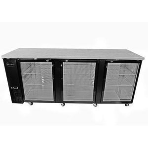 "Saba Air - 90-3 , 8"" (3) Three Glass Door Back Bar Cooler-SB-STBB2790G-8217-N"