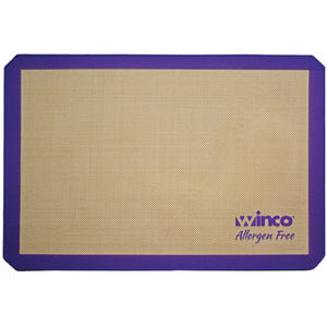 "Winco - SBS-16PP - Purple Silicone Baking Mat, Half-size, 11-5/8"" x 16-1/2"", Allergen Free - Bakeware - Maltese & Co New and Used  restaurant Equipment"