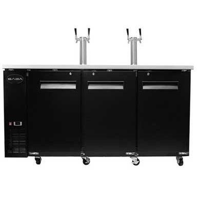 "Saba Air - 90"" Beer Dispenser with (2) Double Tap-SB-STDD2790-8417-N"