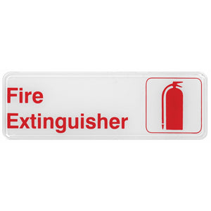 "Winco - SGN-382W - Information Sign, ""Fire Extinguisher"", 3"" x 9"", White - Dining Service - Maltese & Co New and Used  restaurant Equipment"