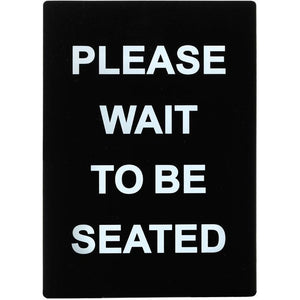 "Winco - SGN-802 - Stanchion  Sign, ""Please Wait To Be Seated"" - Dining Service - Maltese & Co New and Used  restaurant Equipment"