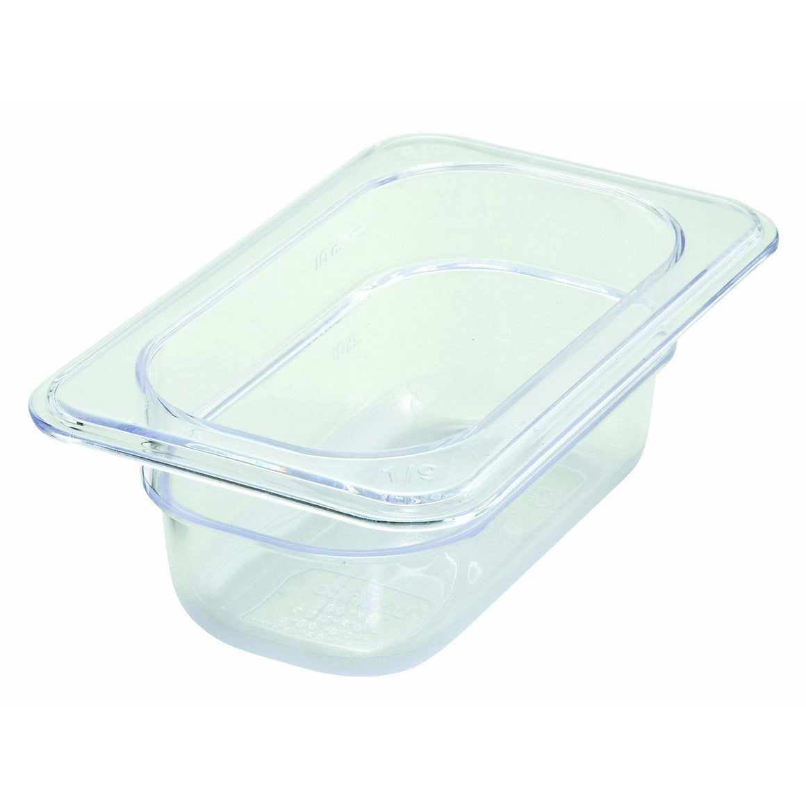 "Winco - SP7902 - PC Food Pan, 1/9 Size, 2-1/2"" - Food Storage - Maltese & Co New and Used  restaurant Equipment"