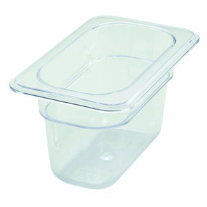 "Winco - SP7904 - PC Food Pan, 1/9 Size, 4"" - Food Storage - Maltese & Co New and Used  restaurant Equipment"