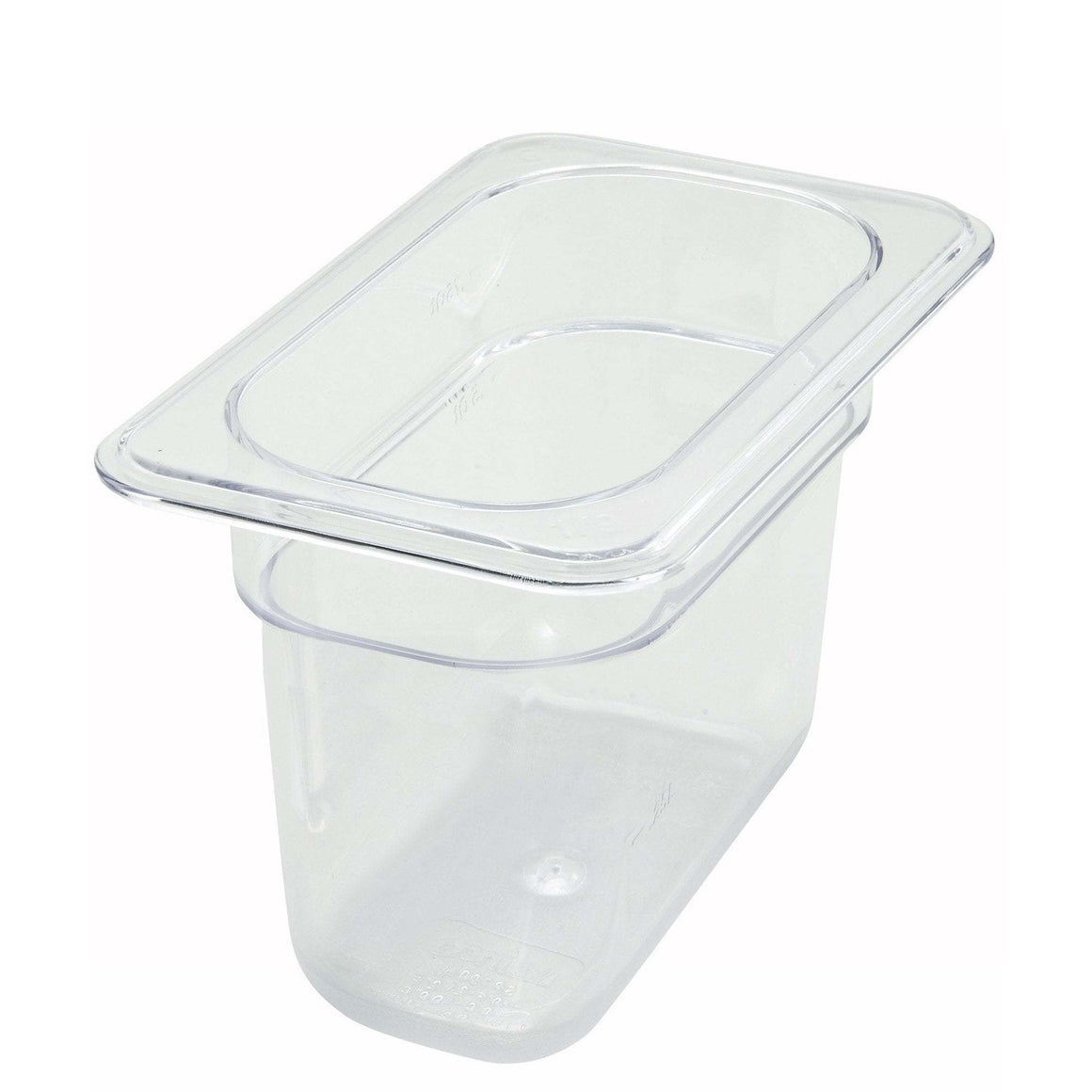 "Winco - SP7906 - PC Food Pan, 1/9 Size, 6"" - Food Storage - Maltese & Co New and Used  restaurant Equipment"