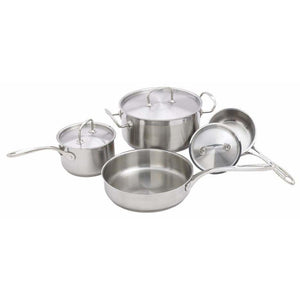 Winco - SPC-7H - 7-piece Cookware Set, Stainless Steel - Cookware - Maltese & Co New and Used  restaurant Equipment