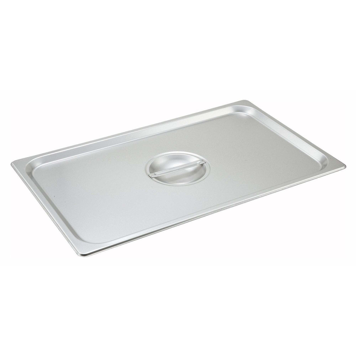 Winco - SPSCF - Stainless Steel Steam Pan Cover, Full-size, Solid - Steam Table