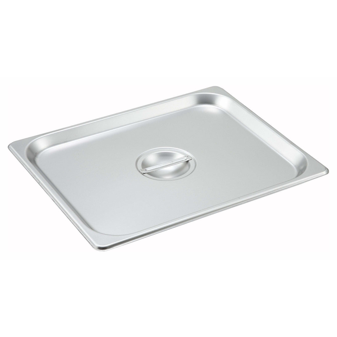 Winco - SPSCH - Stainless Steel Steam Pan Cover, Half-size, Solid - Steam Table