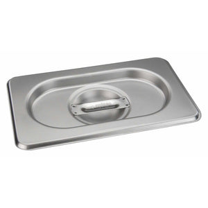 Winco - SPSCN-GN - Stainless Steel Steam Pan Cover for SPJH-906G/N, Solid - Steam Table
