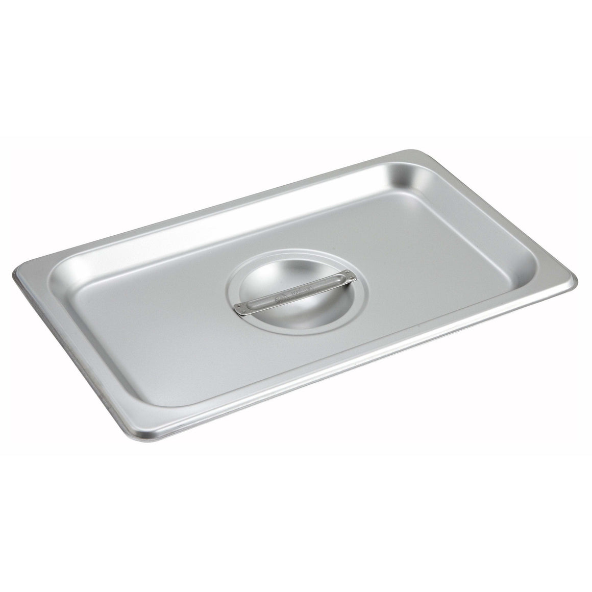 Winco - SPSCQ - Stainless Steel Steam Pan Cover, 1/4 Size, Solid - Steam Table