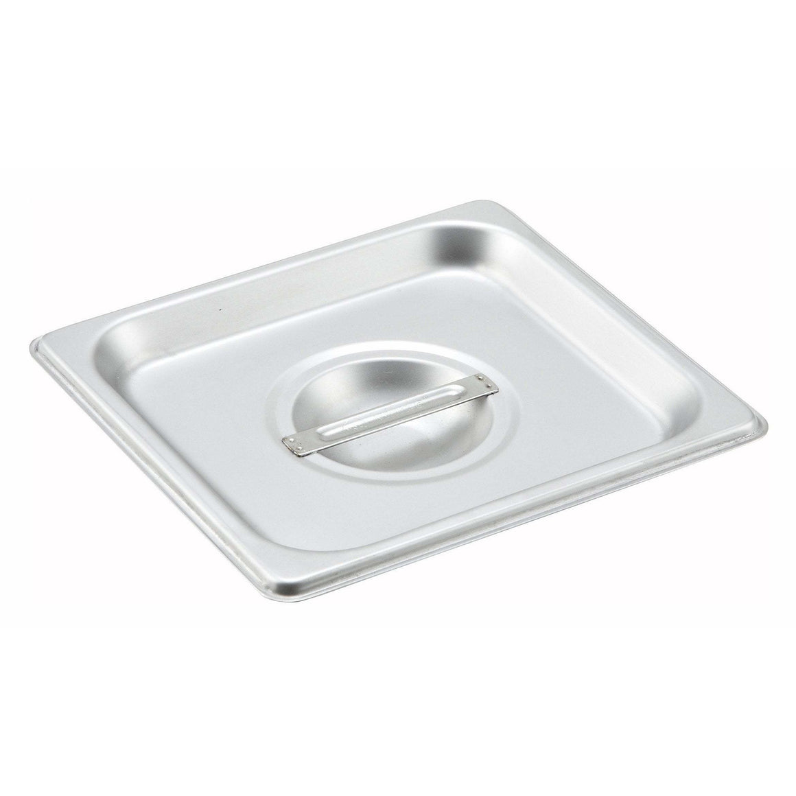 Winco - SPSCS - Stainless Steel Steam Pan Cover, 1/6 Size, Solid - Steam Table
