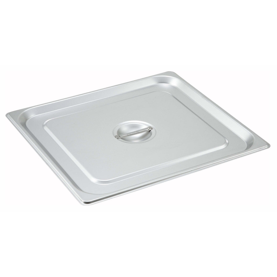Winco - SPSCTT - Stainless Steel Steam Pan Cover, 2/3 Size, Solid - Steam Table