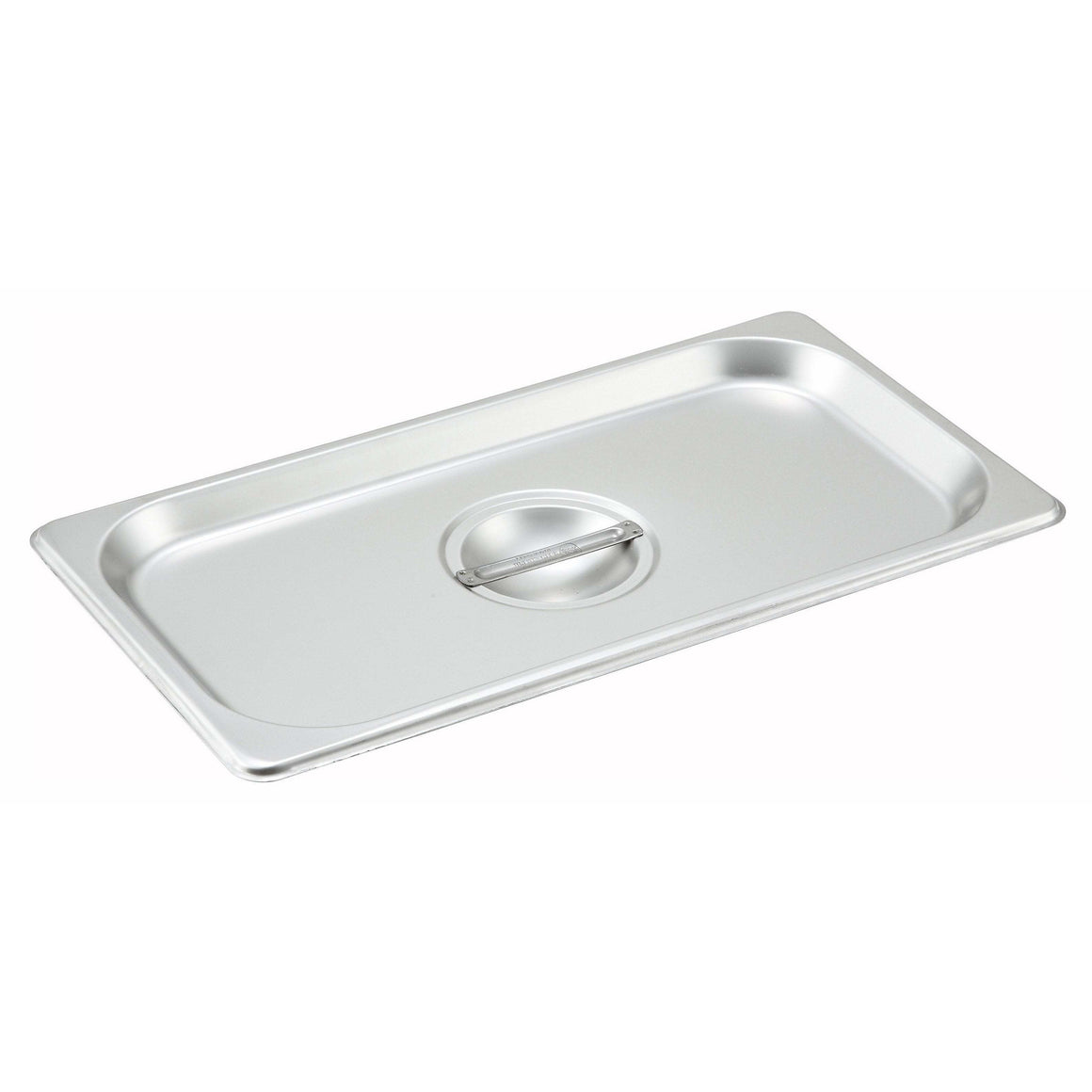 Winco - SPSCT - Stainless Steel Steam Pan Cover, 1/3 Size, Solid - Steam Table