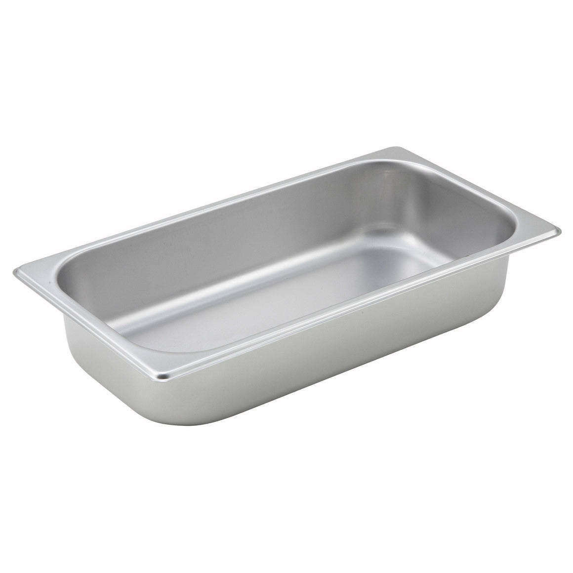 "Winco - SPT2 - Straight-sided Steam Pan, 1/3 Size, 2-1/2"", 25 Ga Stainless Steel - Steam Table"