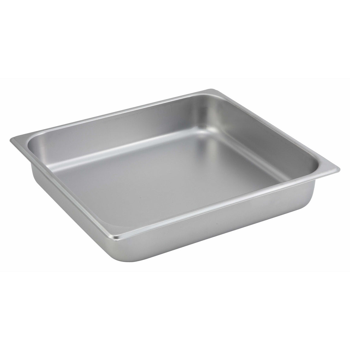 "Winco - SPTT2 - Straight-sided Steam Pan, 2/3 Size, 2-1/2"", 25 Ga Stainless Steel - Steam Table"