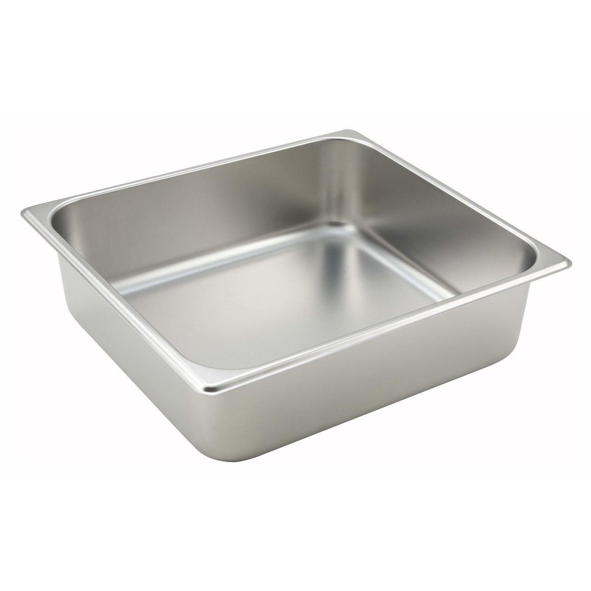 "Winco - SPTT4 - Straight-sided Steam Pan, 2/3 Size, 4"", 25 Ga Stainless Steel - Steam Table"