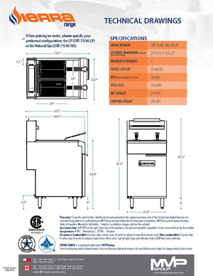 Sierra - SRF-75/80 - Fryer - Brand New
