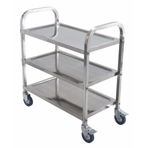 Winco - SUC-30 - Utility Trolley, 3 Tiers, Stainless Steel - Bussing - Maltese & Co New and Used  restaurant Equipment