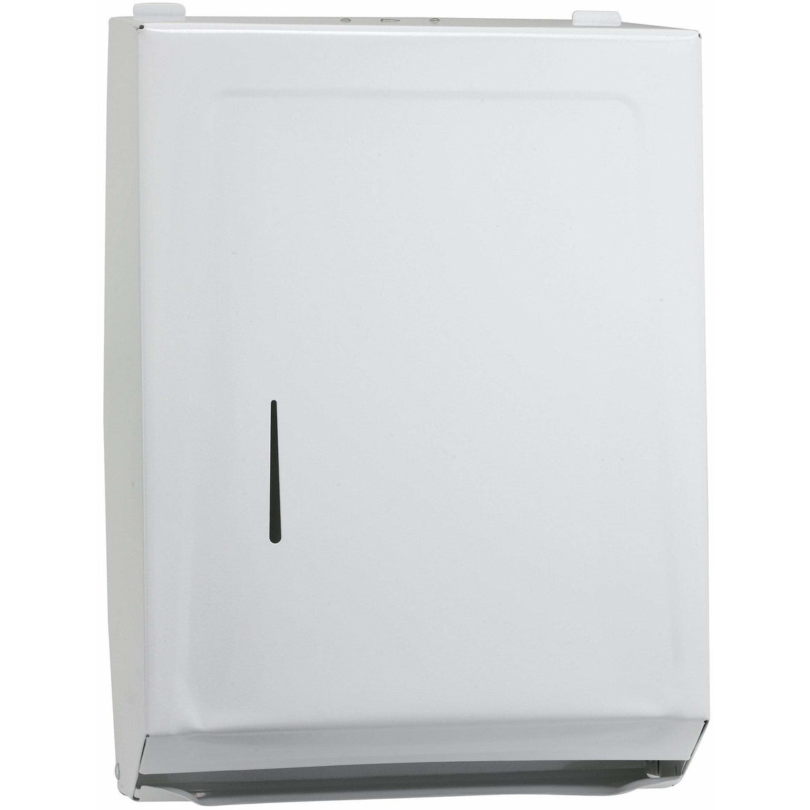 Winco - TD-600 - Paper Towel Dispenser, M/C-Folds, White - Janitorial