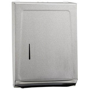 Winco - TD-700 - Paper Towel Dispenser, M/C-Folds, Stainless Steel - Janitorial
