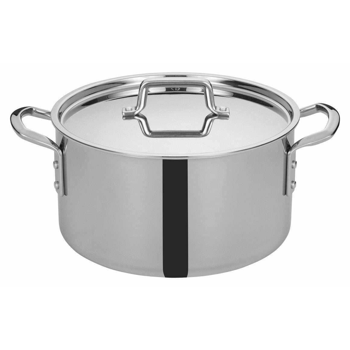 "Winco - TGSP-12 - TRI-GEN™ Tri-Ply Stock Pot w/Cover, 12Qt, 12""Dia - Cookware"