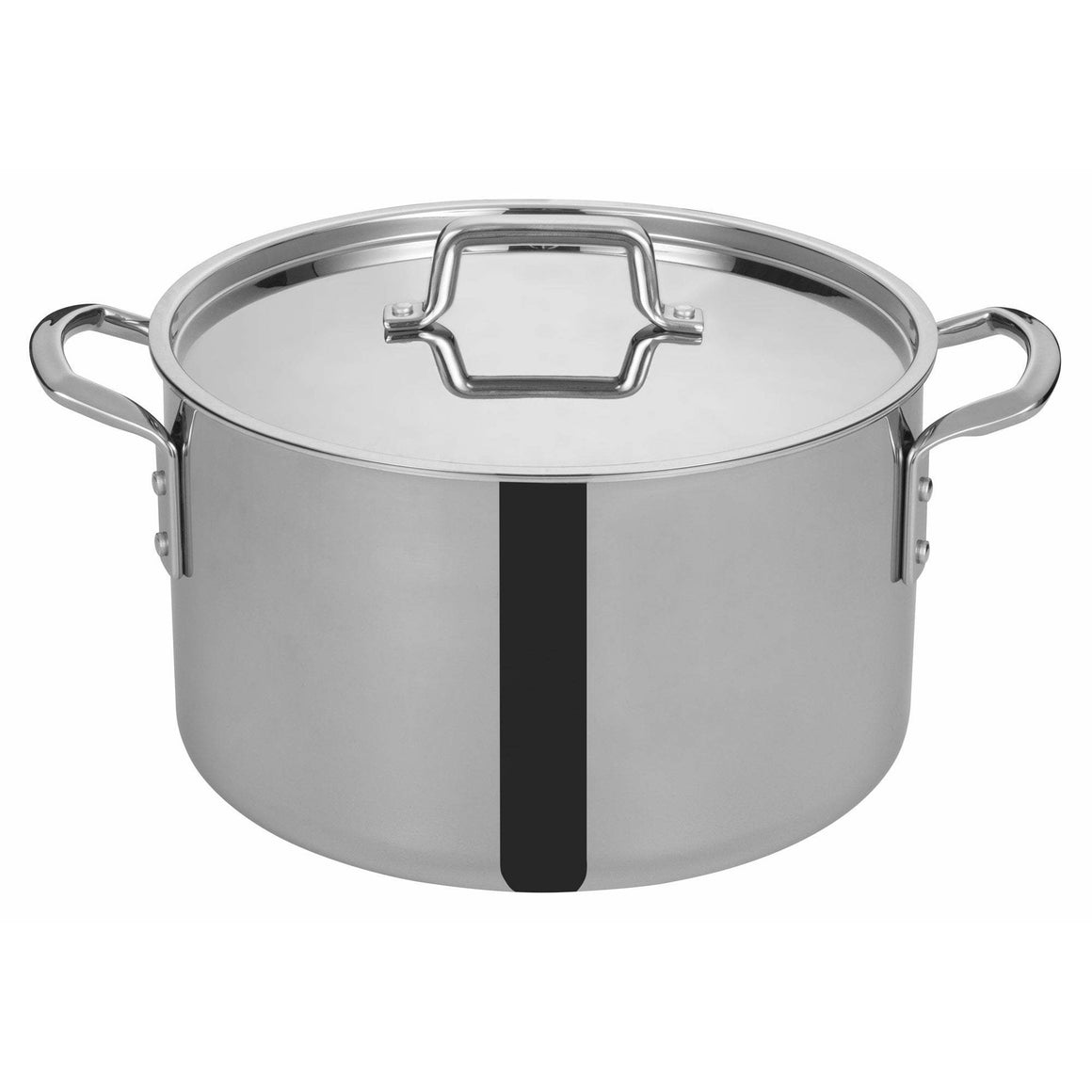 "Winco - TGSP-16 - TRI-GEN™ Tri-Ply Stock Pot w/Cover, 16Qt, 12-1/2""Dia - Cookware"
