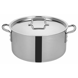"Winco - TGSP-20 - TRI-GEN™ Tri-Ply Stock Pot w/Cover, 20Qt, 14""Dia - Cookware - Maltese & Co New and Used  restaurant Equipment"