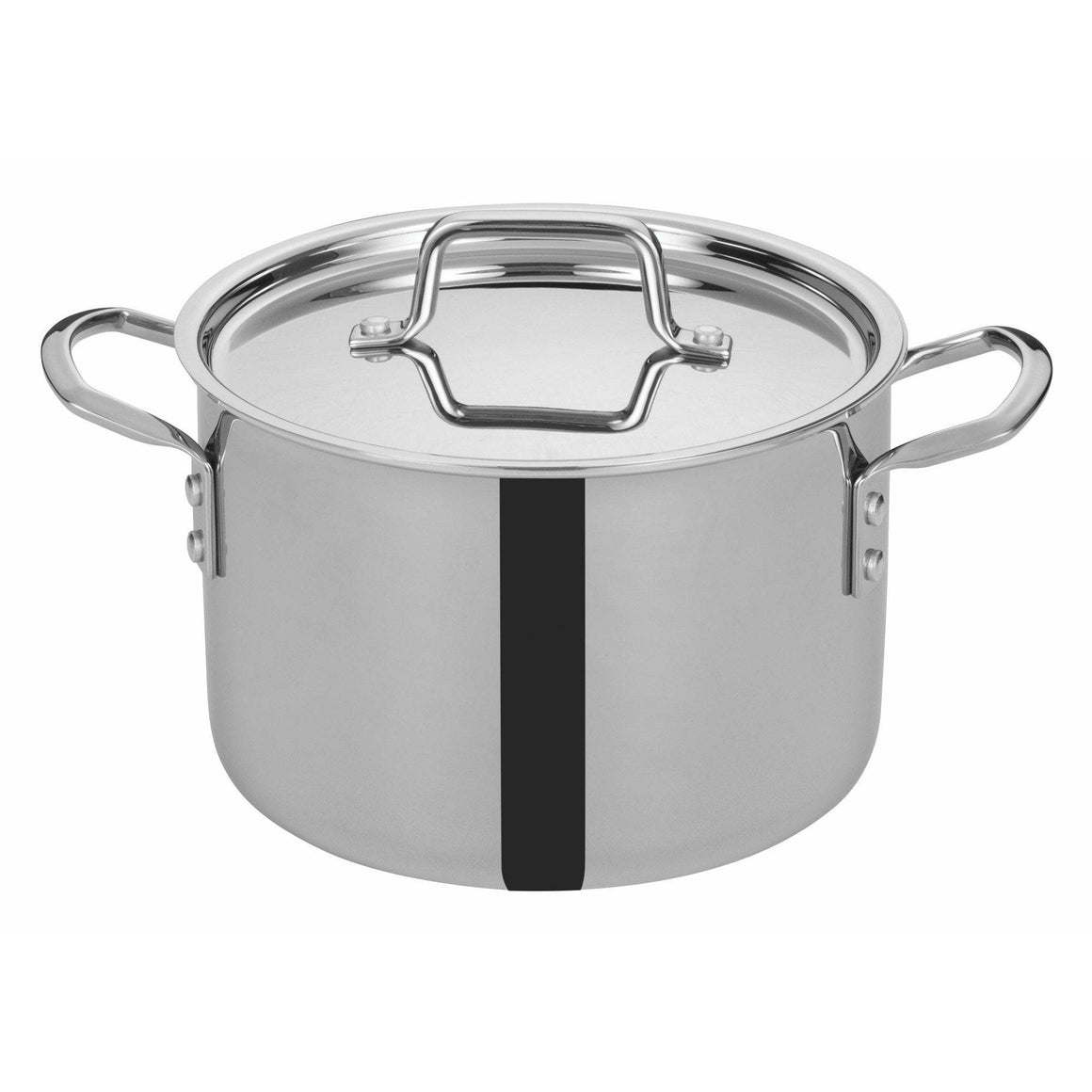 "Winco - TGSP-6 - TRI-GEN™ Tri-Ply Stock Pot w/Cover, 6Qt, 8-1/2""Dia - Cookware"