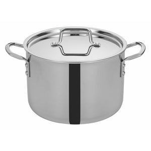 "Winco - TGSP-8 - TRI-GEN™ Tri-Ply Stock Pot w/Cover, 8Qt, 9-1/2""Dia - Cookware - Maltese & Co New and Used  restaurant Equipment"