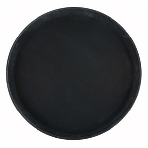 "Winco - TRH-16K - 16"" Easy Hold Rubber Lined Tray, Black, Round - Dining Service"