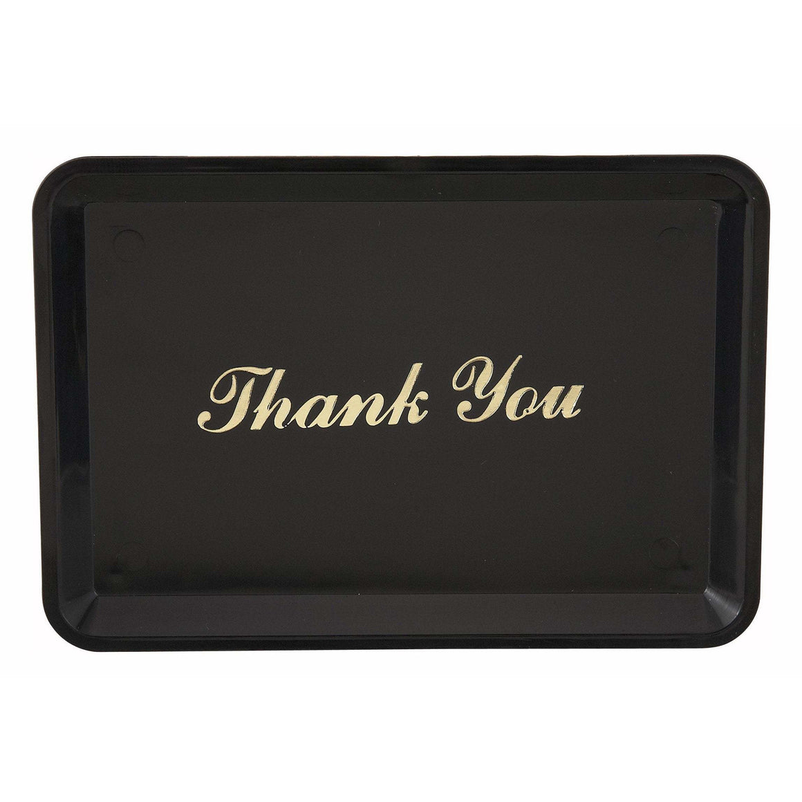 "Winco - TT-46 - Tip Tray, ""Thank You"" Gold Imprint - Dining Service"