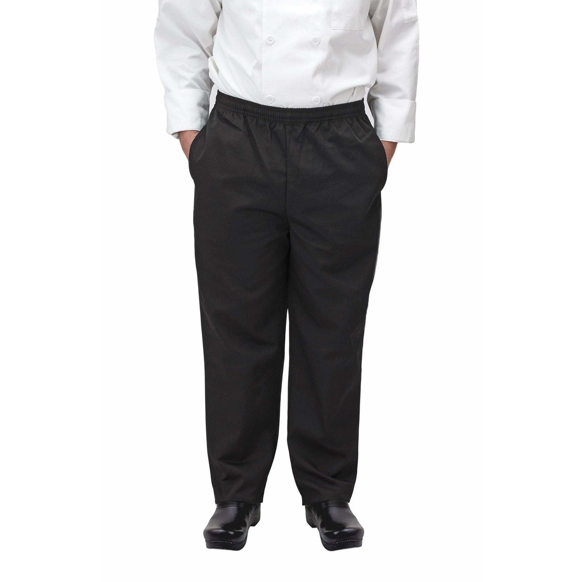 Winco - UNF-2KXL - Chef pants, black, XL - Apparel - Maltese & Co New and Used  restaurant Equipment