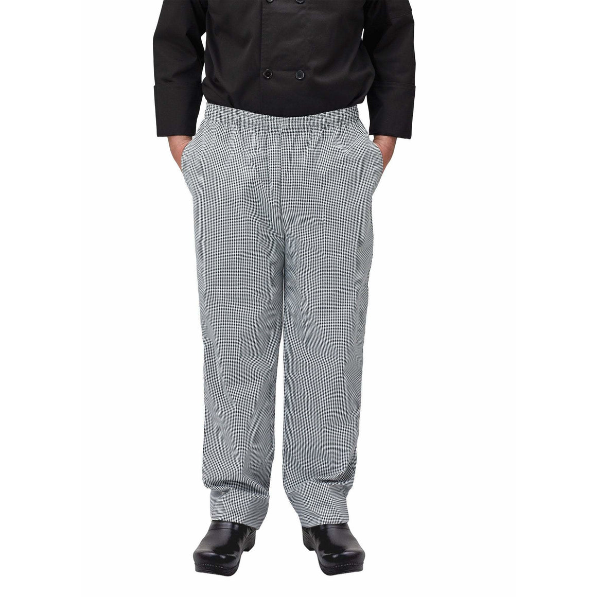 Winco - UNF-4KL - Chef pants, houndstooth, L - Apparel