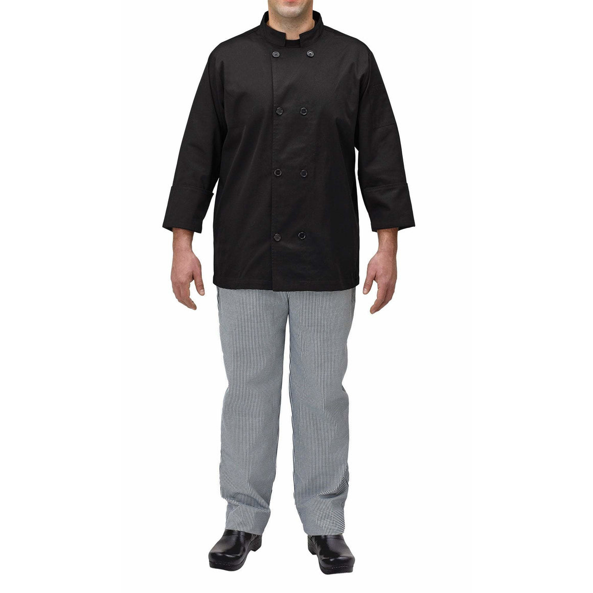 Winco - UNF-5KL - Chef jacket, black, L - Apparel