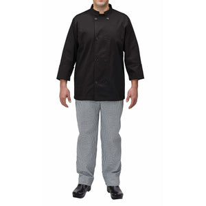 Winco - UNF-5KM - Chef jacket, black, M - Apparel - Maltese & Co New and Used  restaurant Equipment