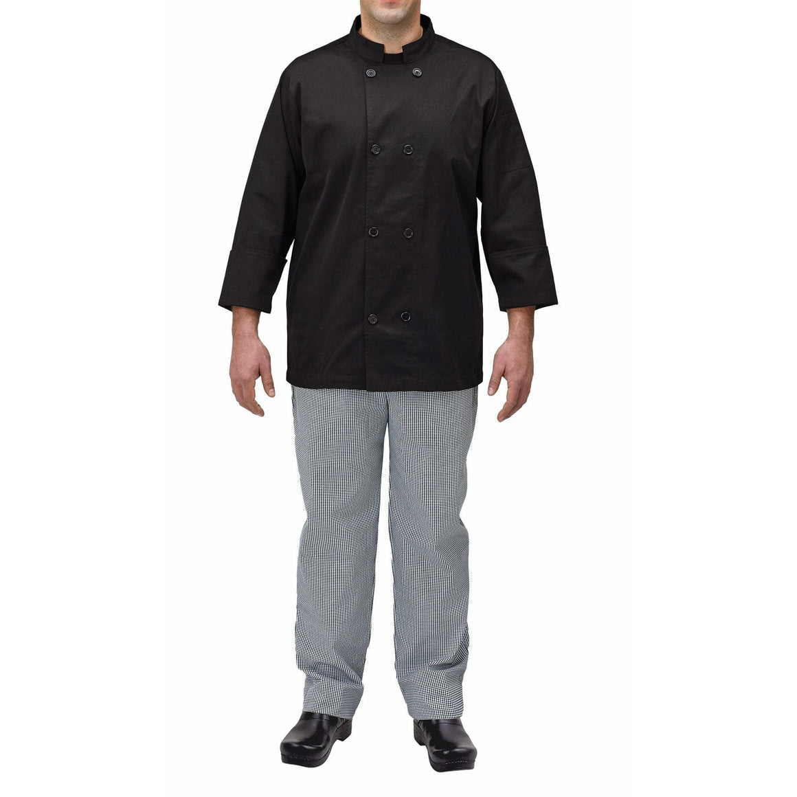 Winco - UNF-5KM - Chef jacket, black, M - Apparel