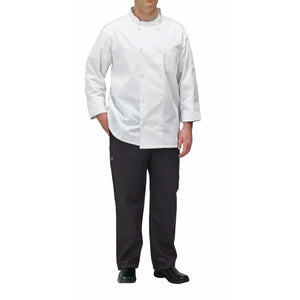 Winco - UNF-5WL - Chef jacket, white, L - Apparel - Maltese & Co New and Used  restaurant Equipment