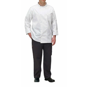 Winco - UNF-5WS - Chef jacket, white, S - Apparel - Maltese & Co New and Used  restaurant Equipment