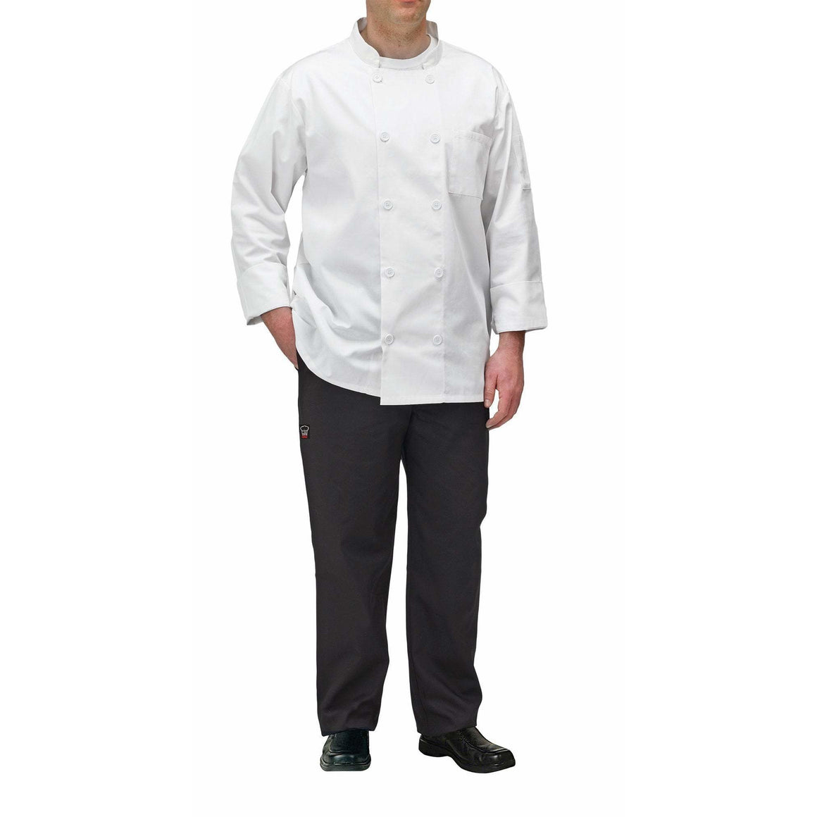 Winco - UNF-5WXXL - Chef jacket, white, 2X - Apparel - Maltese & Co New and Used  restaurant Equipment