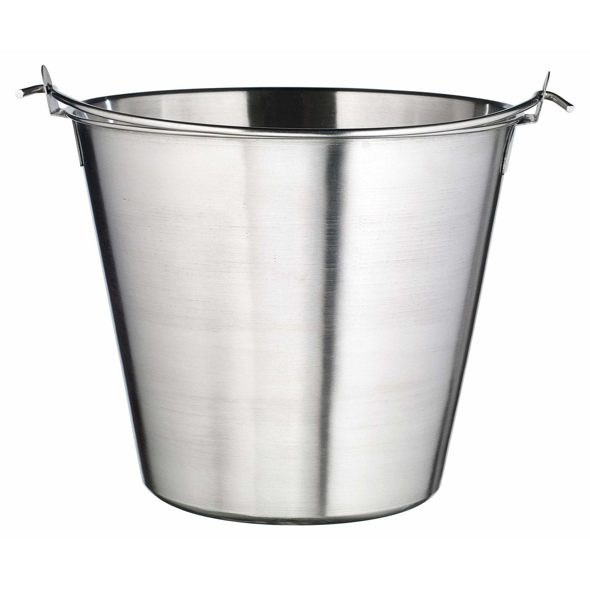 Winco - UP-13 - Utility Pail, 13qt, Stainless Steel - Food Preparation