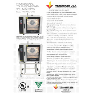 Venancio - Full Size 10 Tray Electric Combi Oven -  Digital Controls, Recipes - Wifi - TCO10E