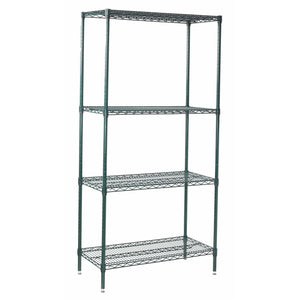 "Winco - VEXS-1848 - 4-Tier Wire Shelving Set, Epoxy Coated, 18"" x 48"" x 72"" - Shelving"