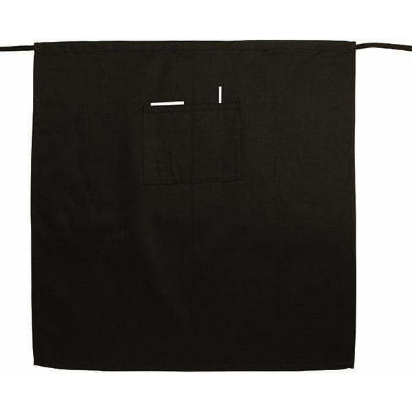 Winco - WA-3129K - Bistro Apron, Full Length, Black - Dining Service