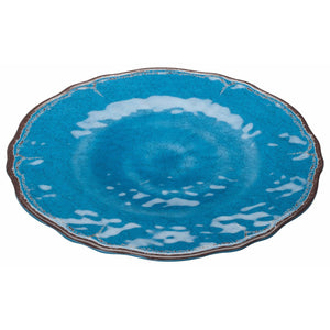 "Winco - WDM001-402 - 11""Dia Melamine Hammered Plate, Blue, 24pcs/case - Dinnerware - Maltese & Co New and Used  restaurant Equipment"
