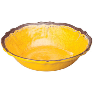 "Winco - WDM001-607 - 13-3/4""Dia Melamine Hammered Bowl, Yellow, 12pcs/case - Dinnerware - Maltese & Co New and Used  restaurant Equipment"