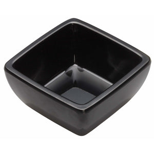 "Winco - WDM009-301 - 2-1/2"" Melamine Square Mini Bowl, Black, 48pcs/case - Dinnerware - Maltese & Co New and Used  restaurant Equipment"